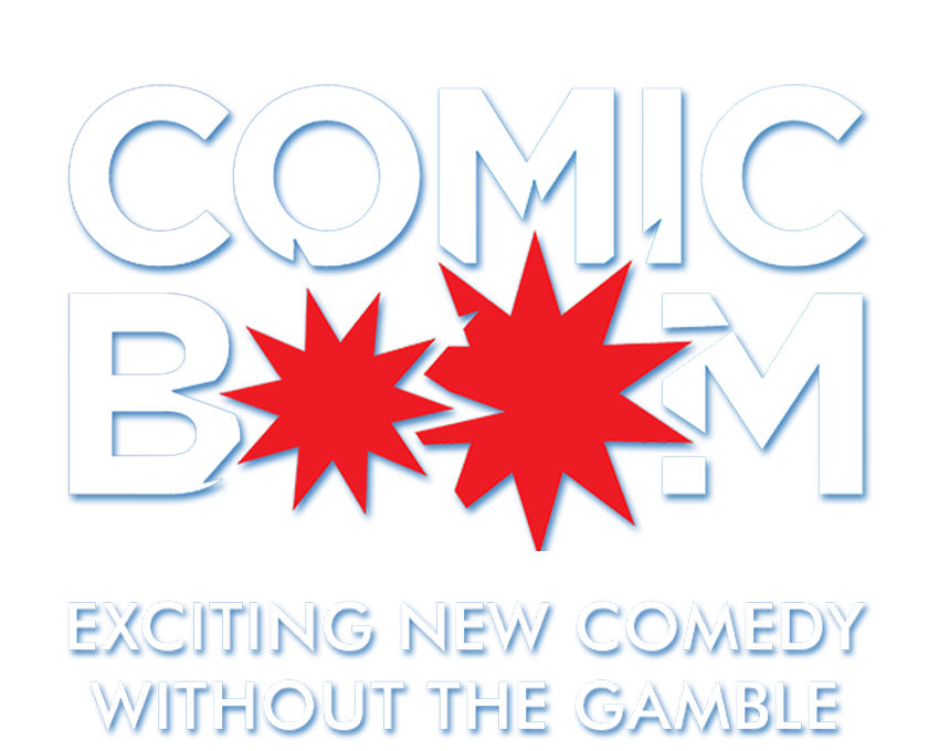 """COMIC BOOM  It's Komedia's sell-out monthly night of exciting new comedy. One of our fantastic MCs hosts a friendly fast paced quality night featuring a top headline comic and """"catch 'em while you can"""" rising stars of the comedy circuit."""