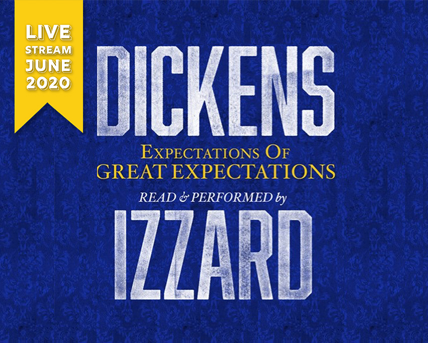 Eddie Izzard invites you to his performance of Charles Dickens' classic epic Great Expectations